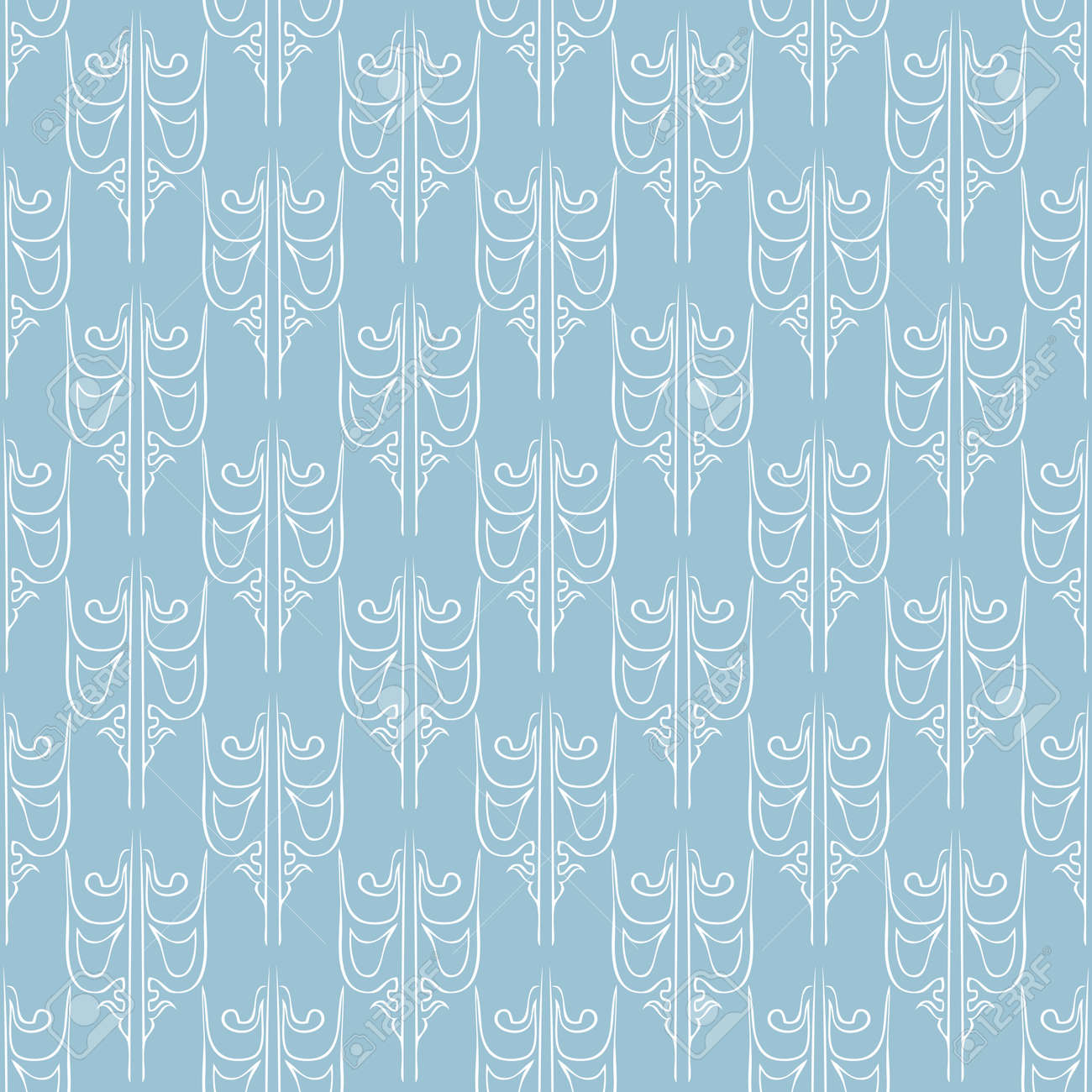 Seamless abstract vintage light blue pattern Stock Vector - 92782760