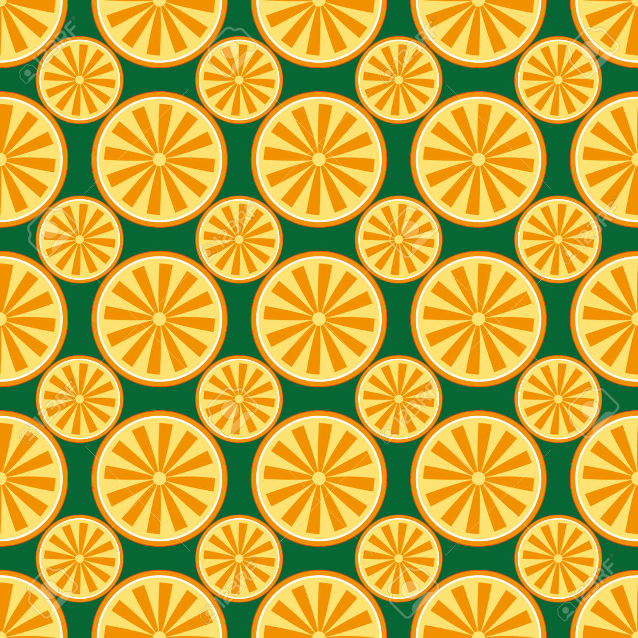 Orange fruit pattern yellow and green Stock Vector - 92926088