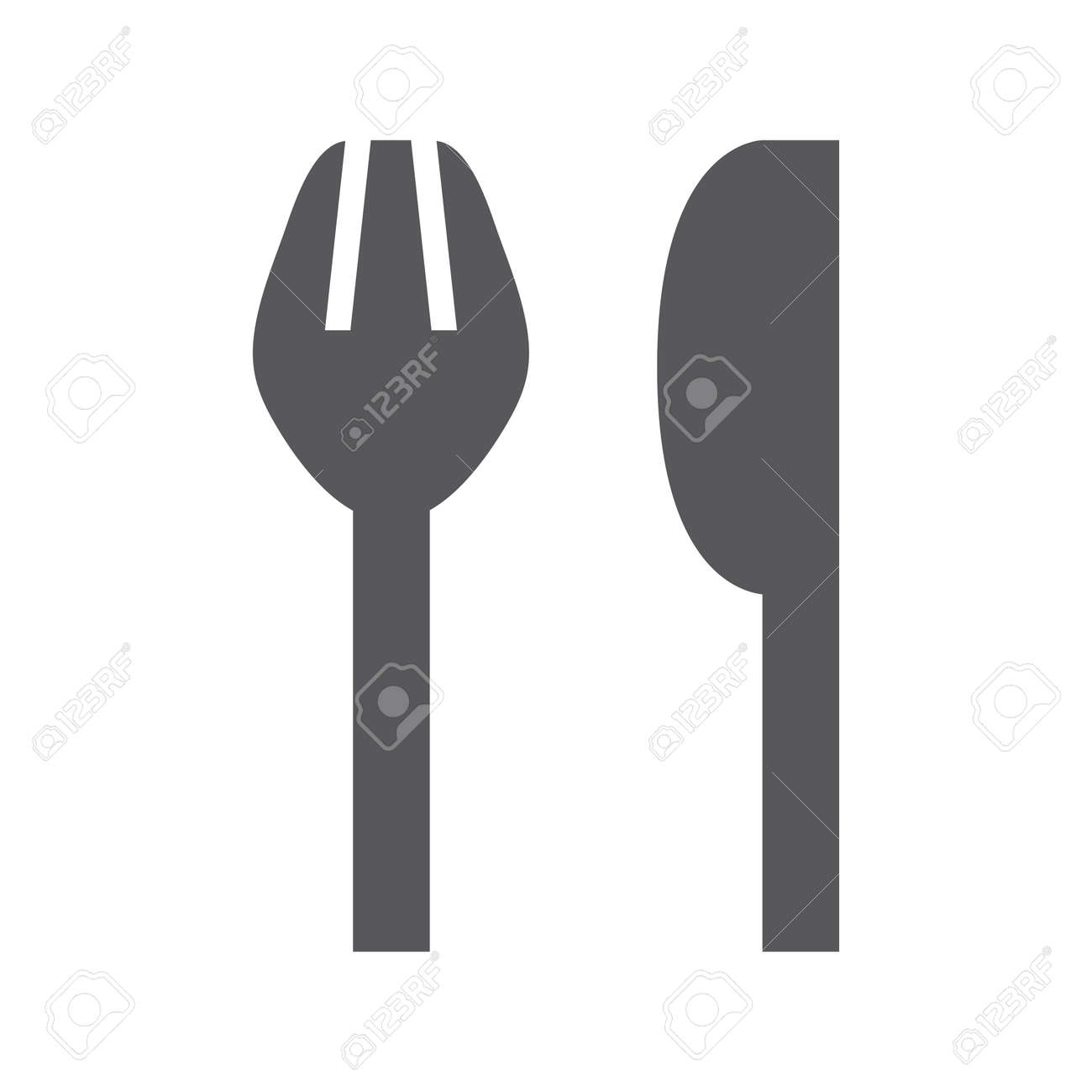 Simple fork and knife icon. Vector illustration Stock Vector - 92875670