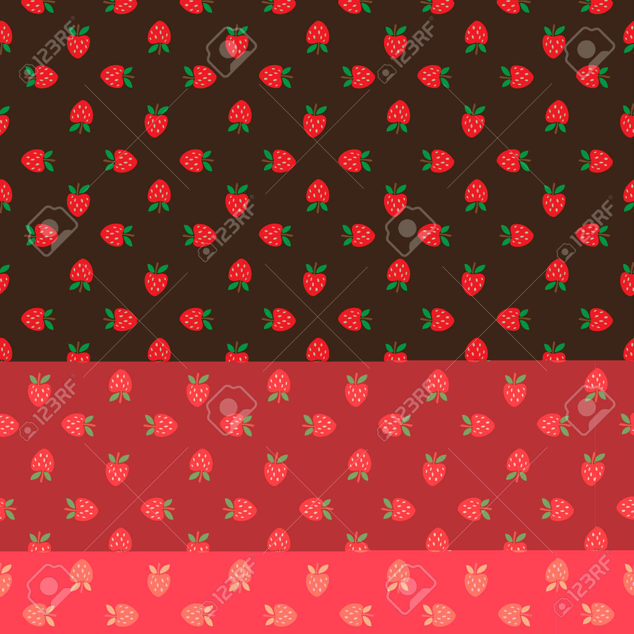 Abstract seamless brown strawberry background. Vector illustration Stock Vector - 92926101