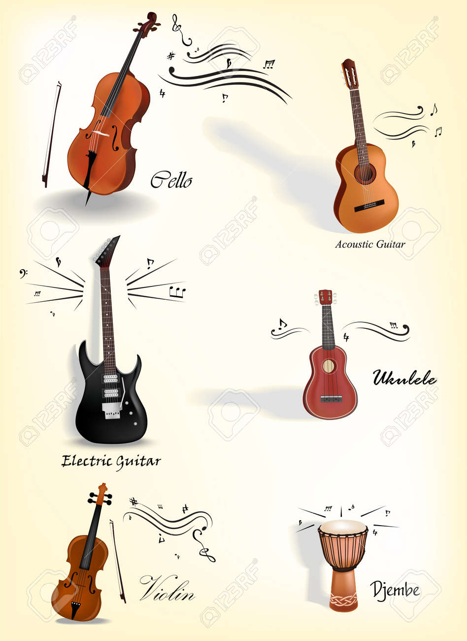 Vector Collection of music instruments Stock Vector - 16915813