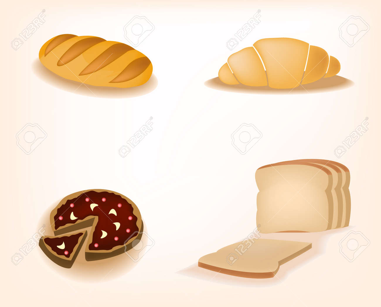 Vrctor clipart - cakes. Abstract background Stock Vector - 17031850