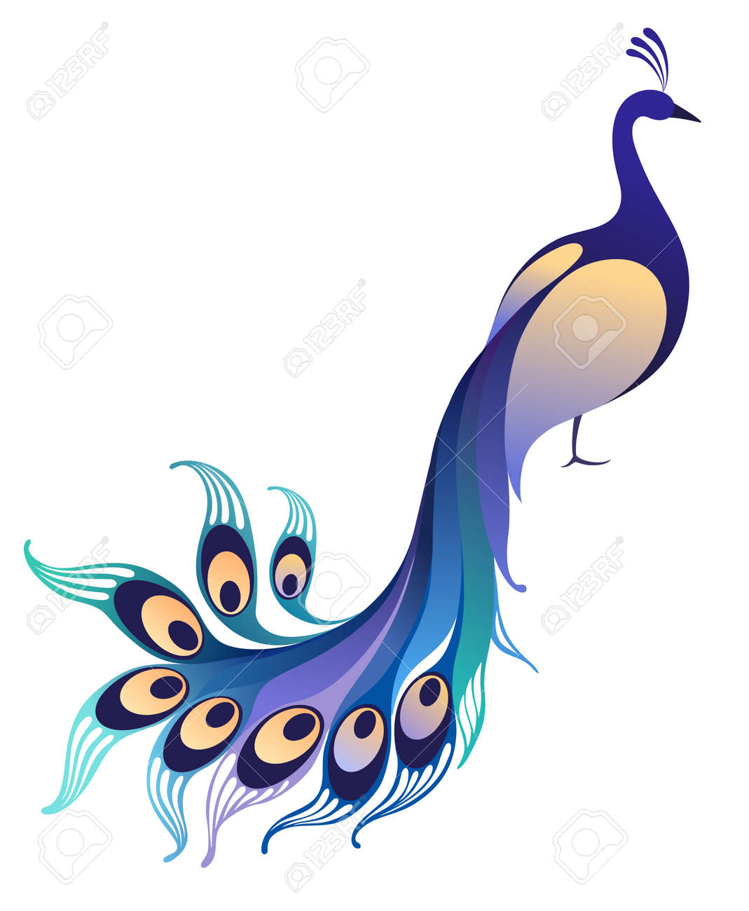 7 463 peacock feather stock vector illustration and royalty free rh 123rf com peacock vector plasma ready to cut peacock vector art