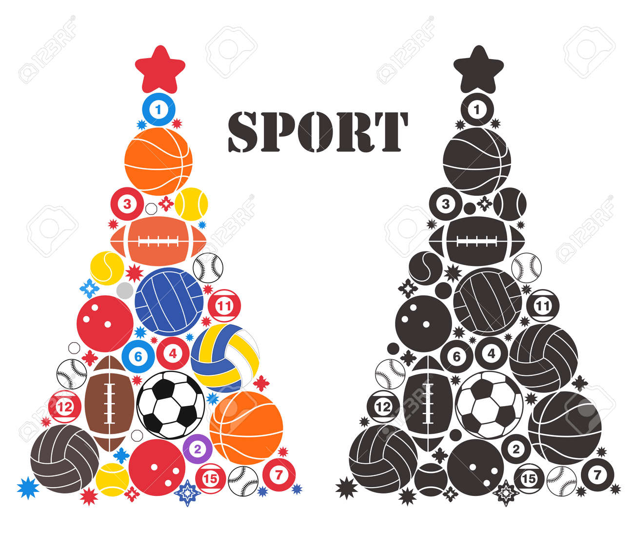 Unusual Christmas Tree. Sport Banque d'images - 32952992
