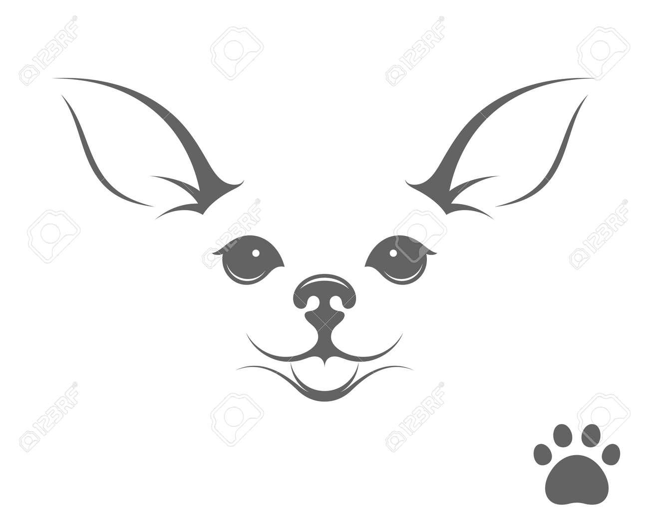 Perro Lindo De La Chihuahua. Cachorro Feliz Con La Impresión De La ...
