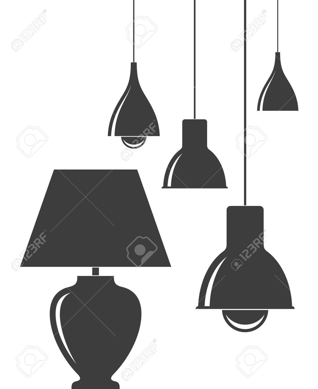 Hanging Lamp. Table Lamp Stock Vector   66985485