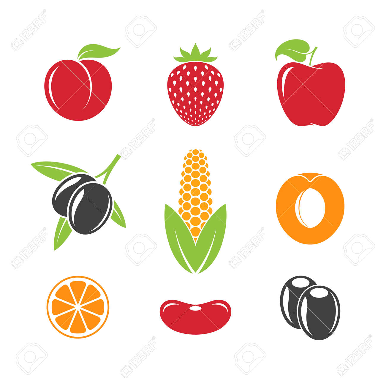 abstract fruit and vegetables vector illustration royalty free rh 123rf com passion fruit vectors passion fruit vectors