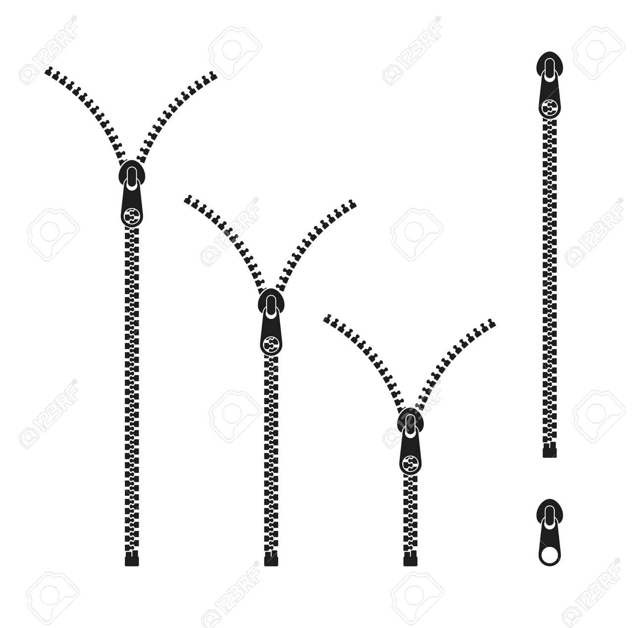 Zipper Icon set. - 123416262