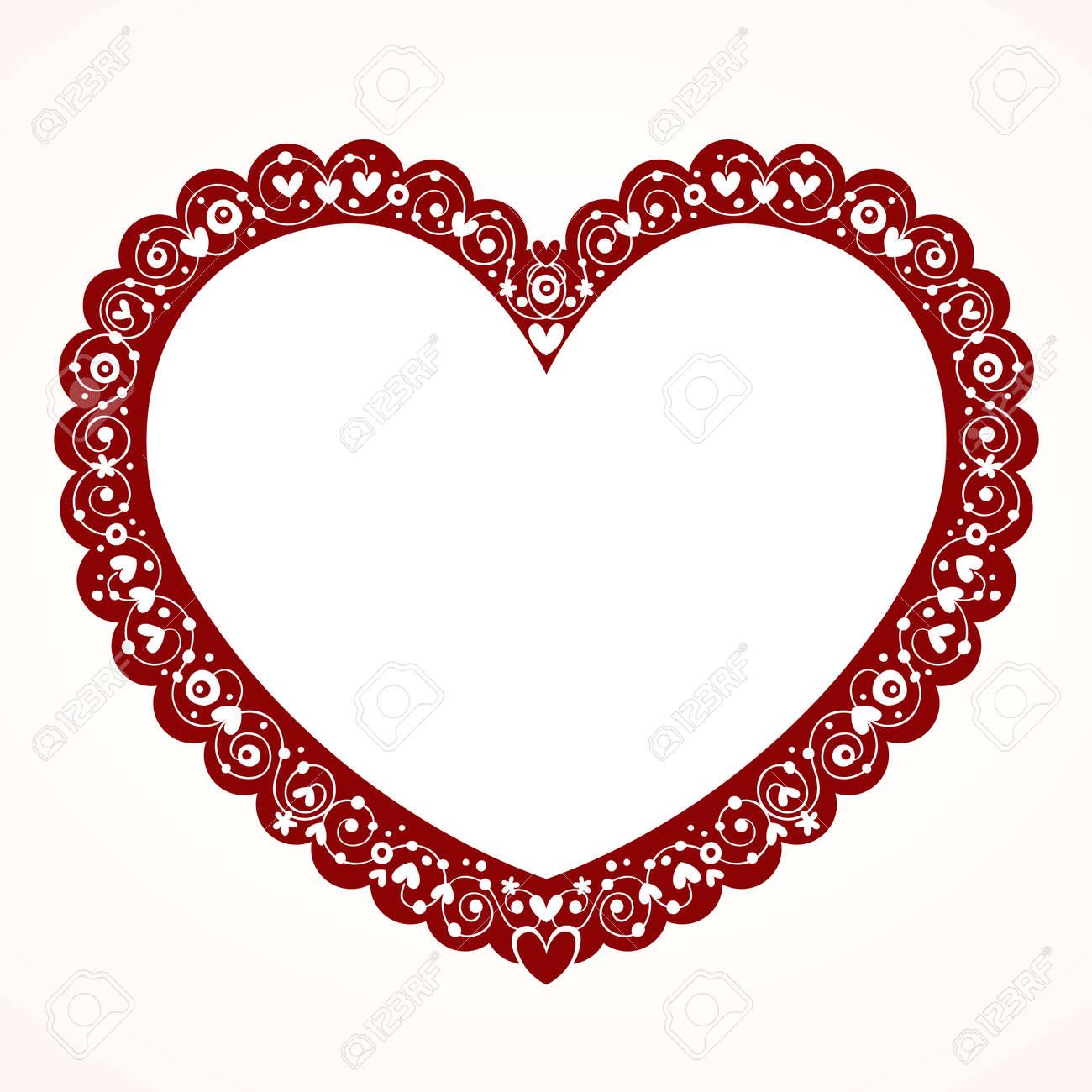 San Valentín Corazón Marco Ilustraciones Vectoriales, Clip Art ...