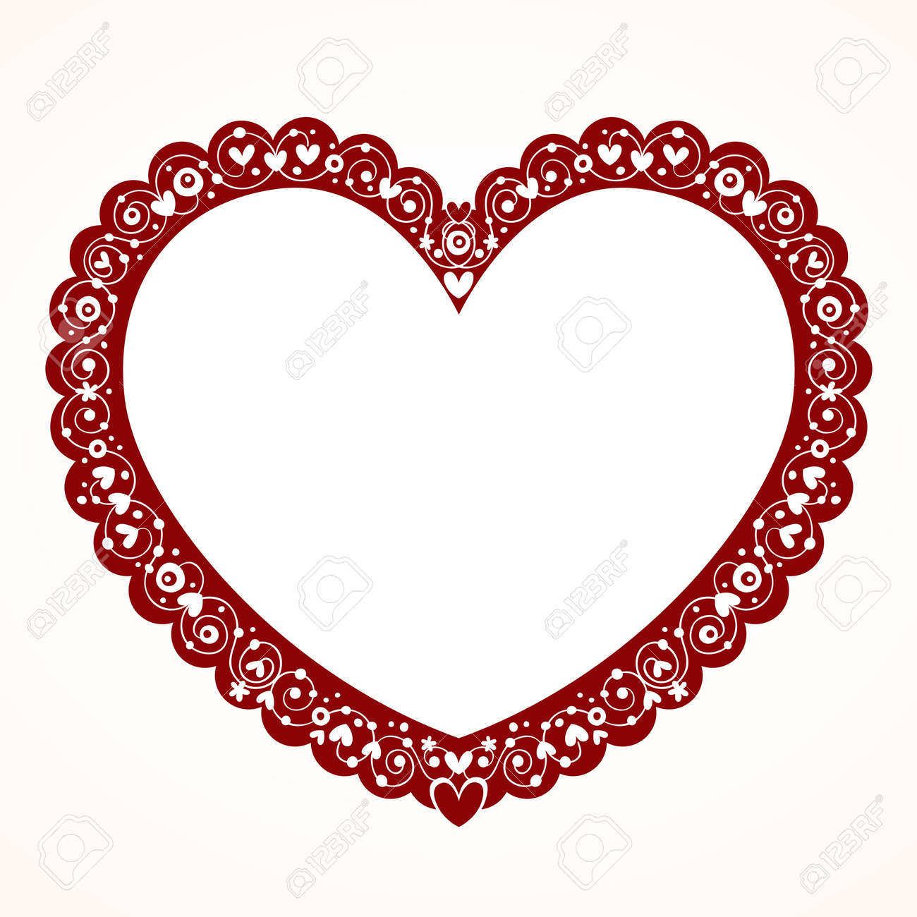Valentine Heart Frame Royalty Free Cliparts, Vectors, And Stock ...