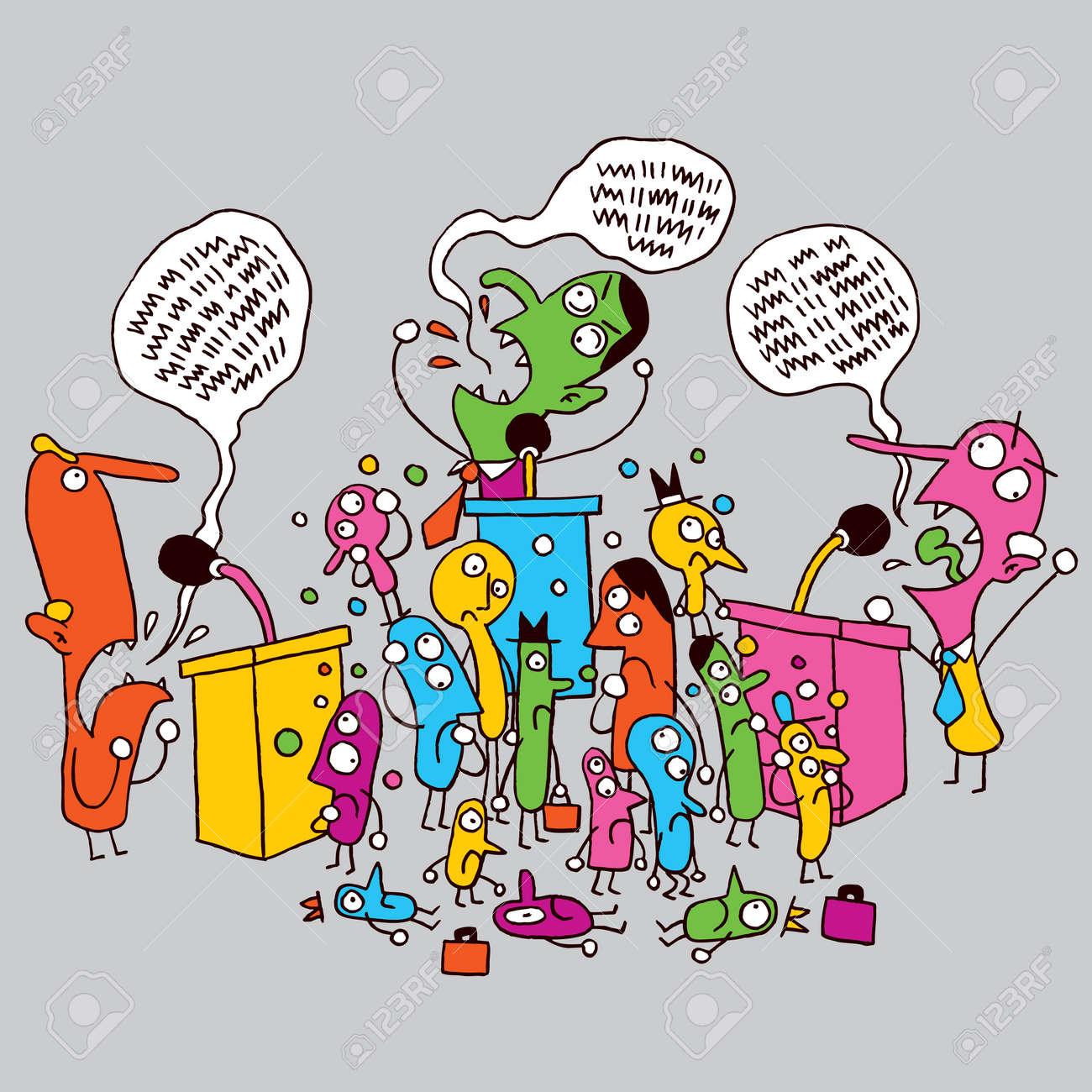politics cartoon - 26366881