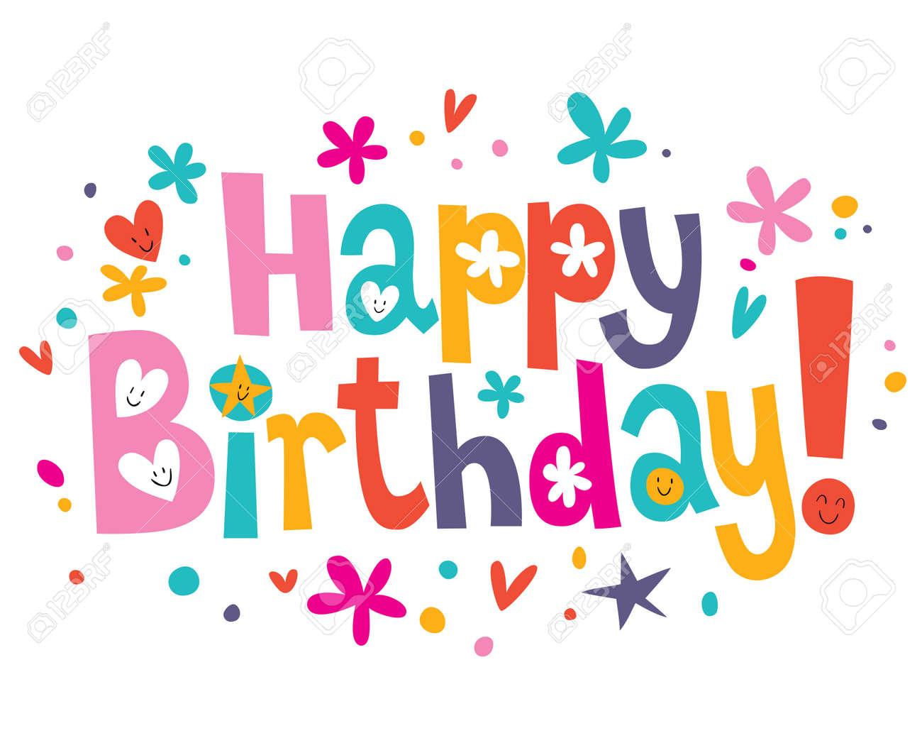 happy birthday jpg Happy Birthday Text Royalty Free Cliparts, Vectors, And Stock  happy birthday jpg
