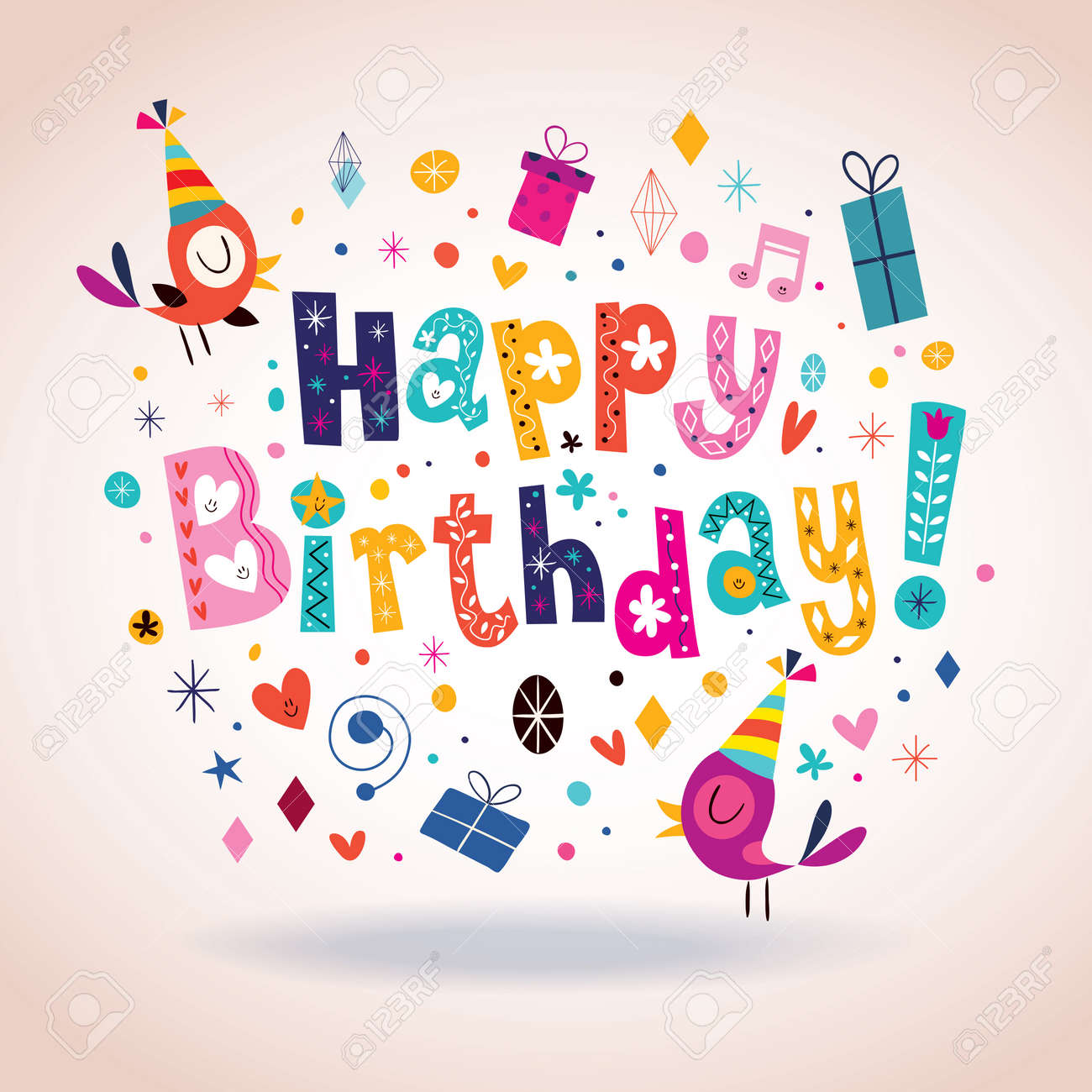 Incredible Happy Birthday Card Royalty Free Cliparts Vectors And Stock Funny Birthday Cards Online Alyptdamsfinfo