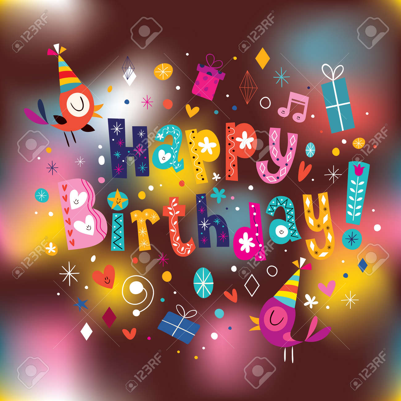 Happy Birthday Card Royalty Free Cliparts Vectors And – Happy Birthday Cards