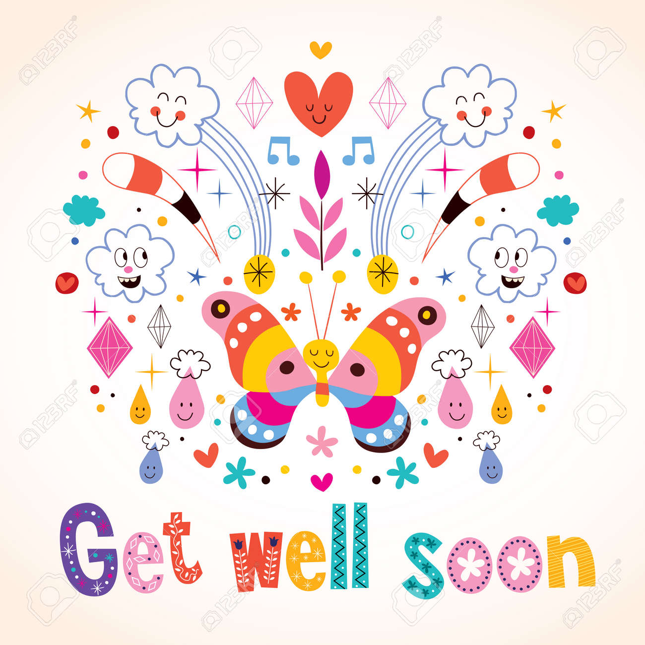 Get Well Soon Greeting Card Royalty Free Cliparts Vectors And