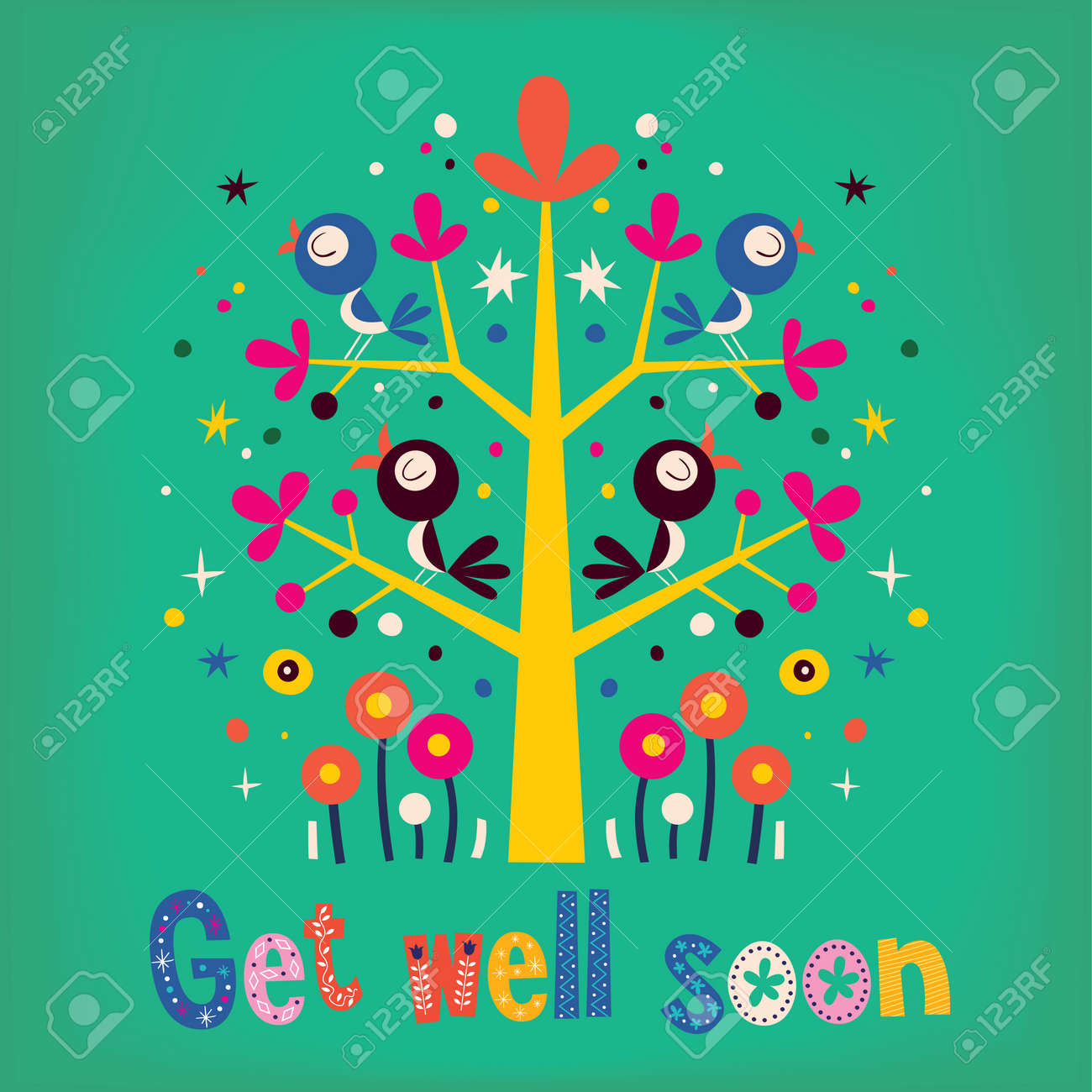 get well soon card royalty free cliparts vectors and stock