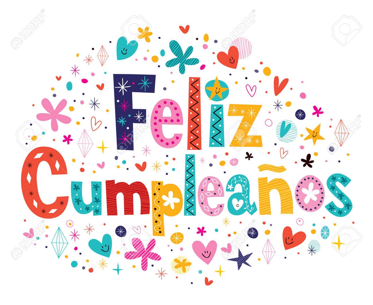 Feliz Cumpleanos Joyeux Anniversaire Dans Le Texte Espagnol Clip