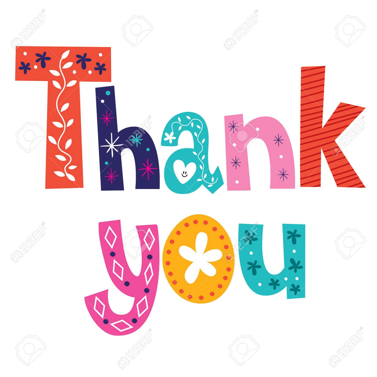 thank you card royalty free cliparts vectors and stock