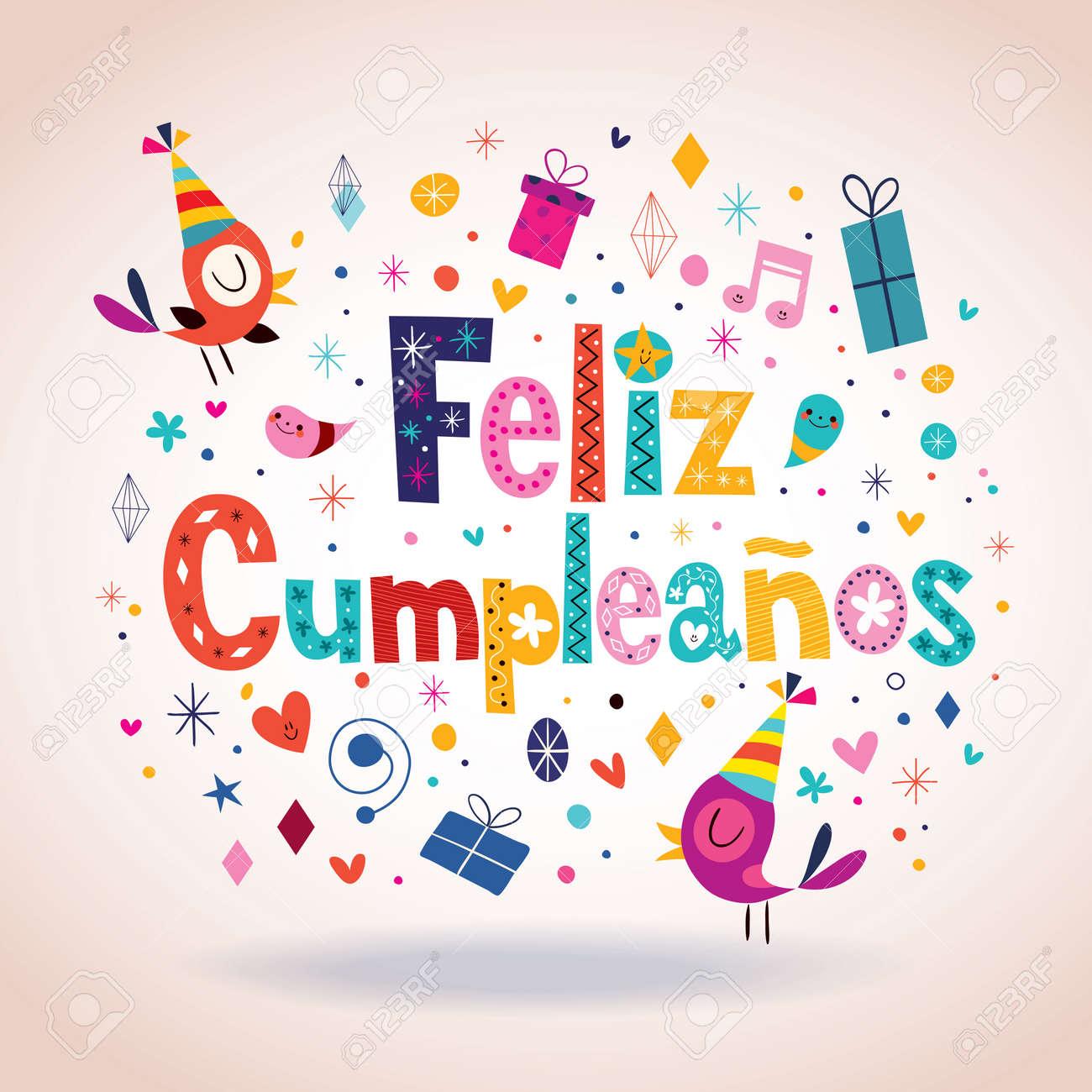 gefeliciteerd met je verjaardag in het spaans Cumpleaños Van Feliz   Gelukkige Verjaardag In Het Spaans Kaart  gefeliciteerd met je verjaardag in het spaans