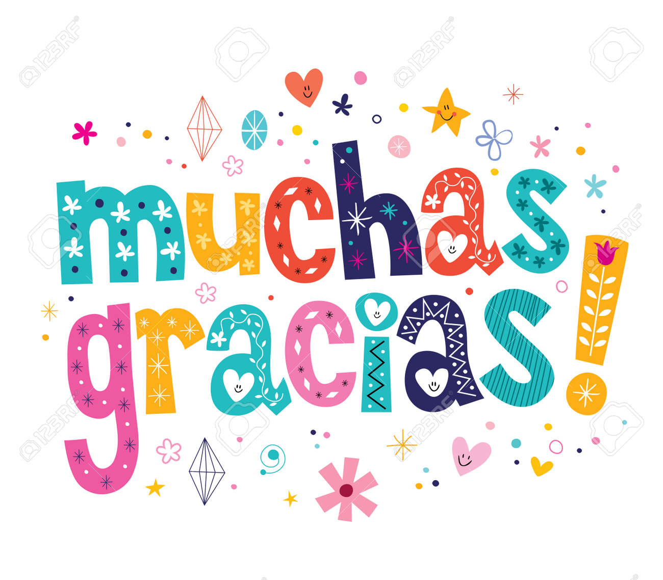 muchas gracias many thanks in Spanish card - 33665783