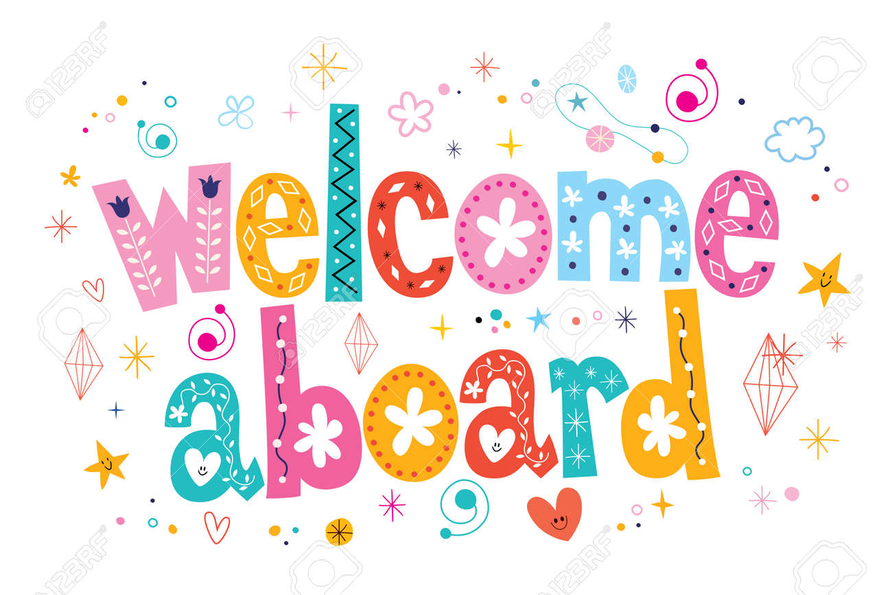 Welcome aboard typography lettering decorative text - 53763666