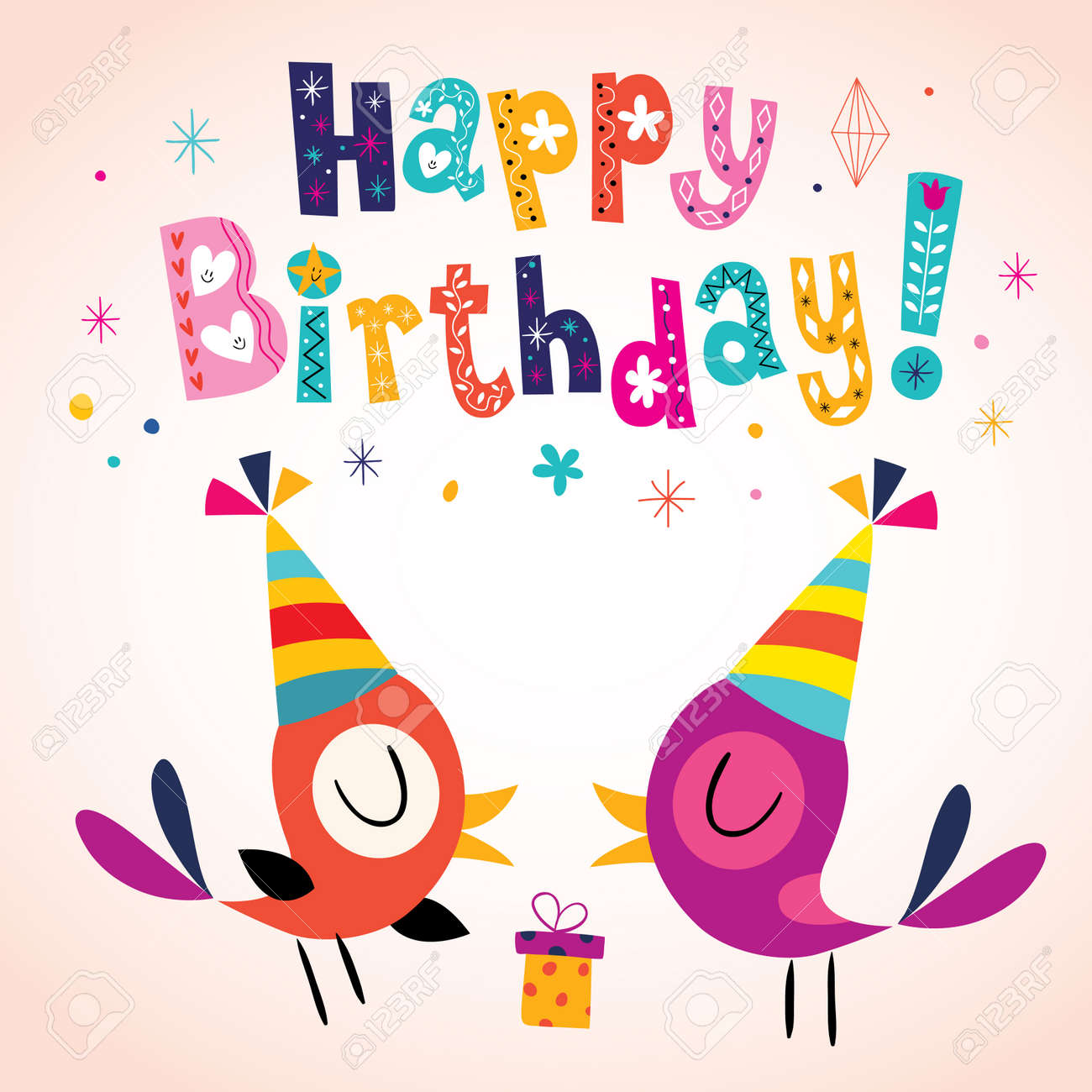Happy Birthday greeting card - 56575518