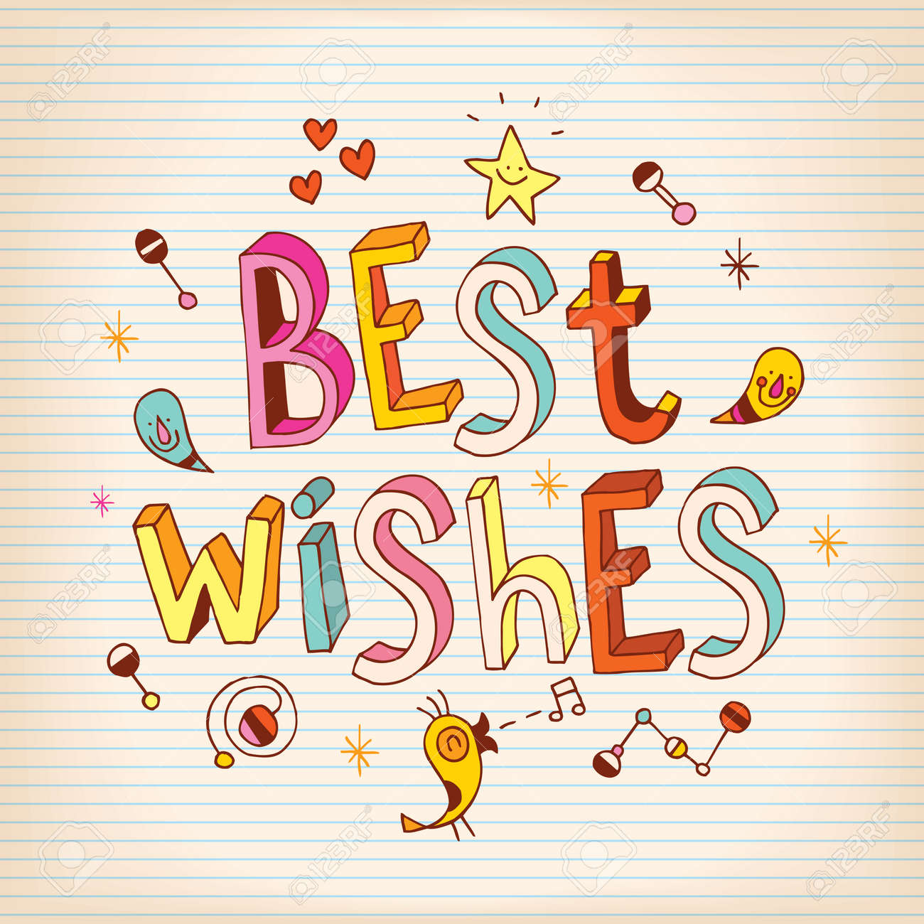 Best wishes lettering design greeting card royalty free cliparts best wishes lettering design greeting card stock vector 56254265 m4hsunfo