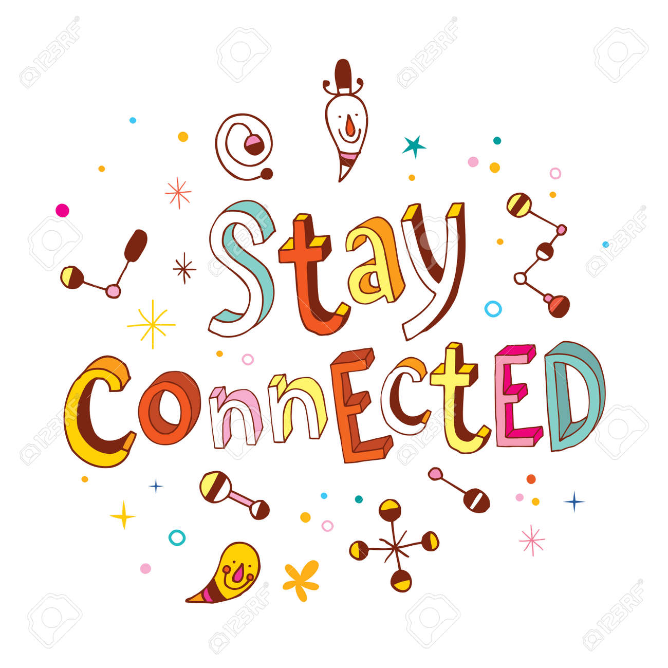 Stay Connected Royalty Free Cliparts, Vectors, And Stock ...