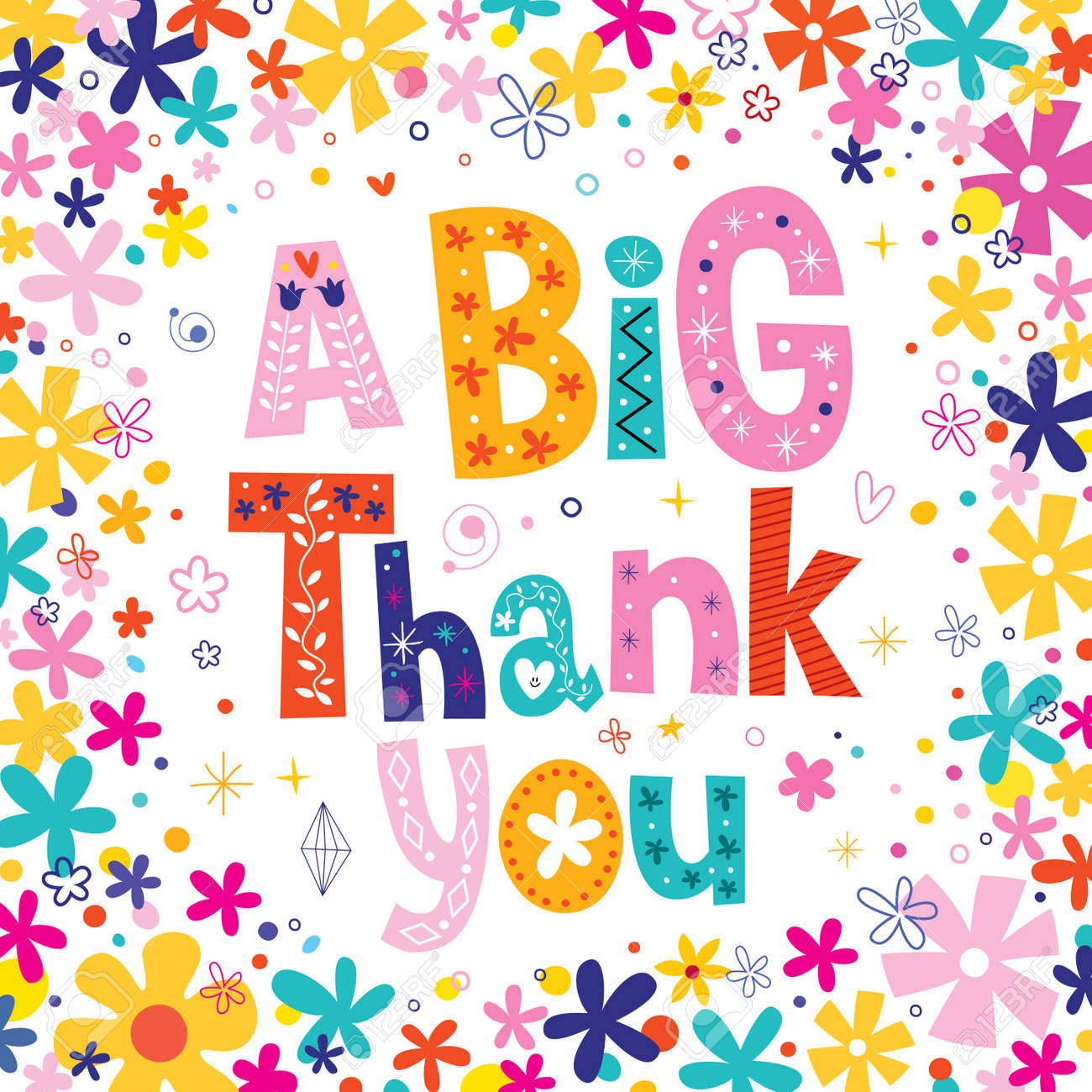 A big thank you greeting card royalty free cliparts vectors and a big thank you greeting card stock vector 55590426 kristyandbryce Images