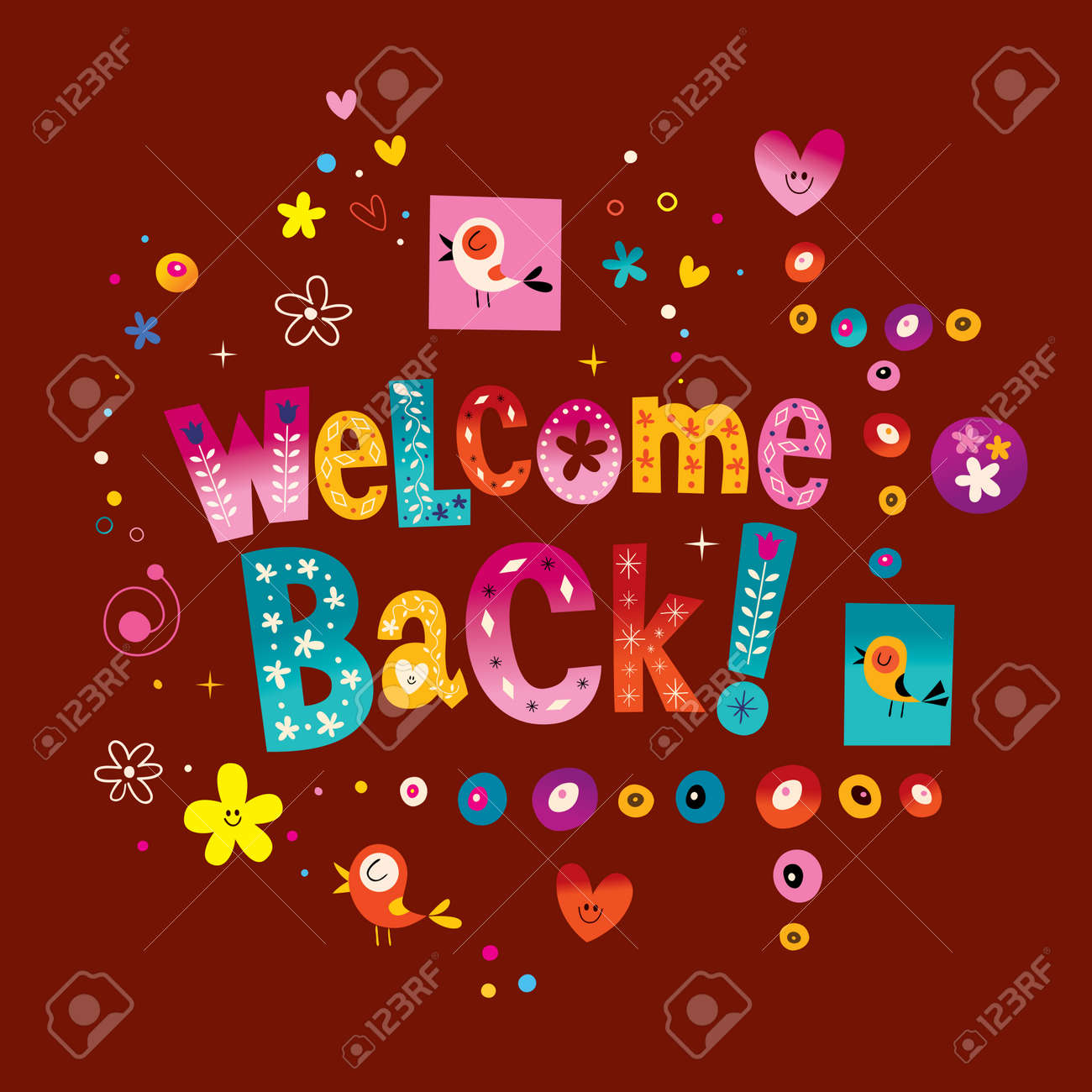Me re presento  ahora ya con dJ!!! 54725080-welcome-back-greeting-card-Stock-Vector