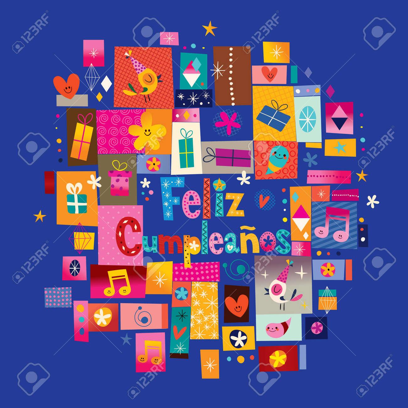 Feliz Cumpleanos Alles Gute Zum Geburtstag Auf Spanisch Grusskarte