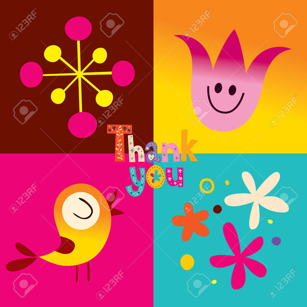 Thank you greeting card royalty free cliparts vectors and stock thank you greeting card stock vector 60563911 kristyandbryce Images