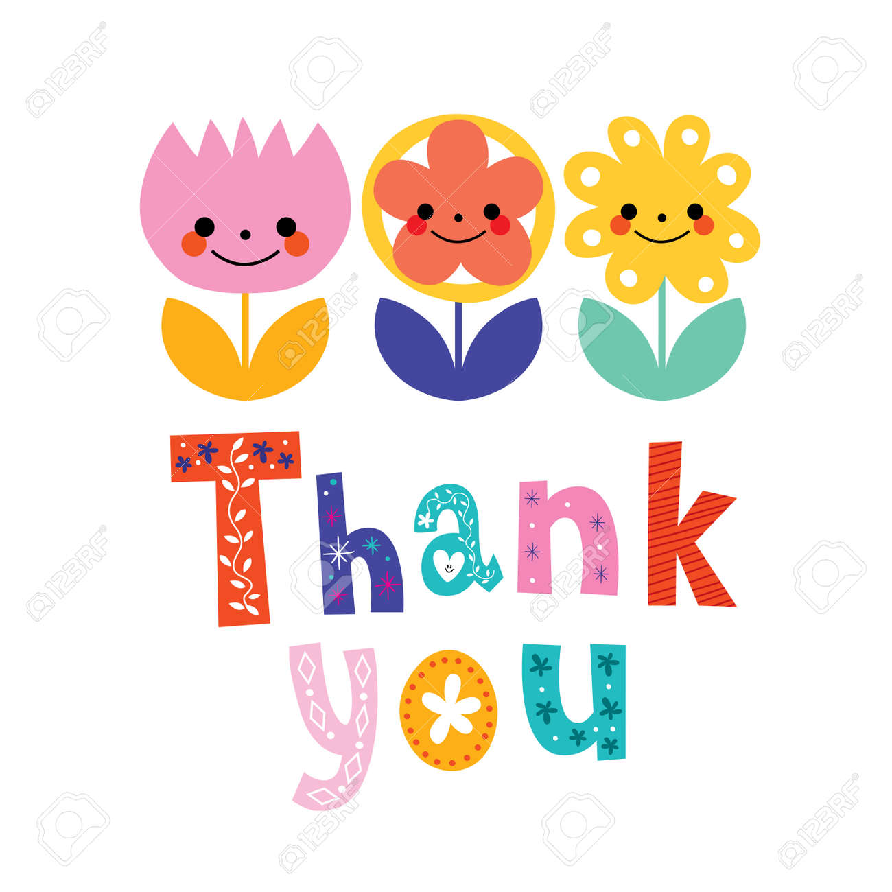 Thank You Greeting Card Royalty Free Cliparts Vectors And Stock