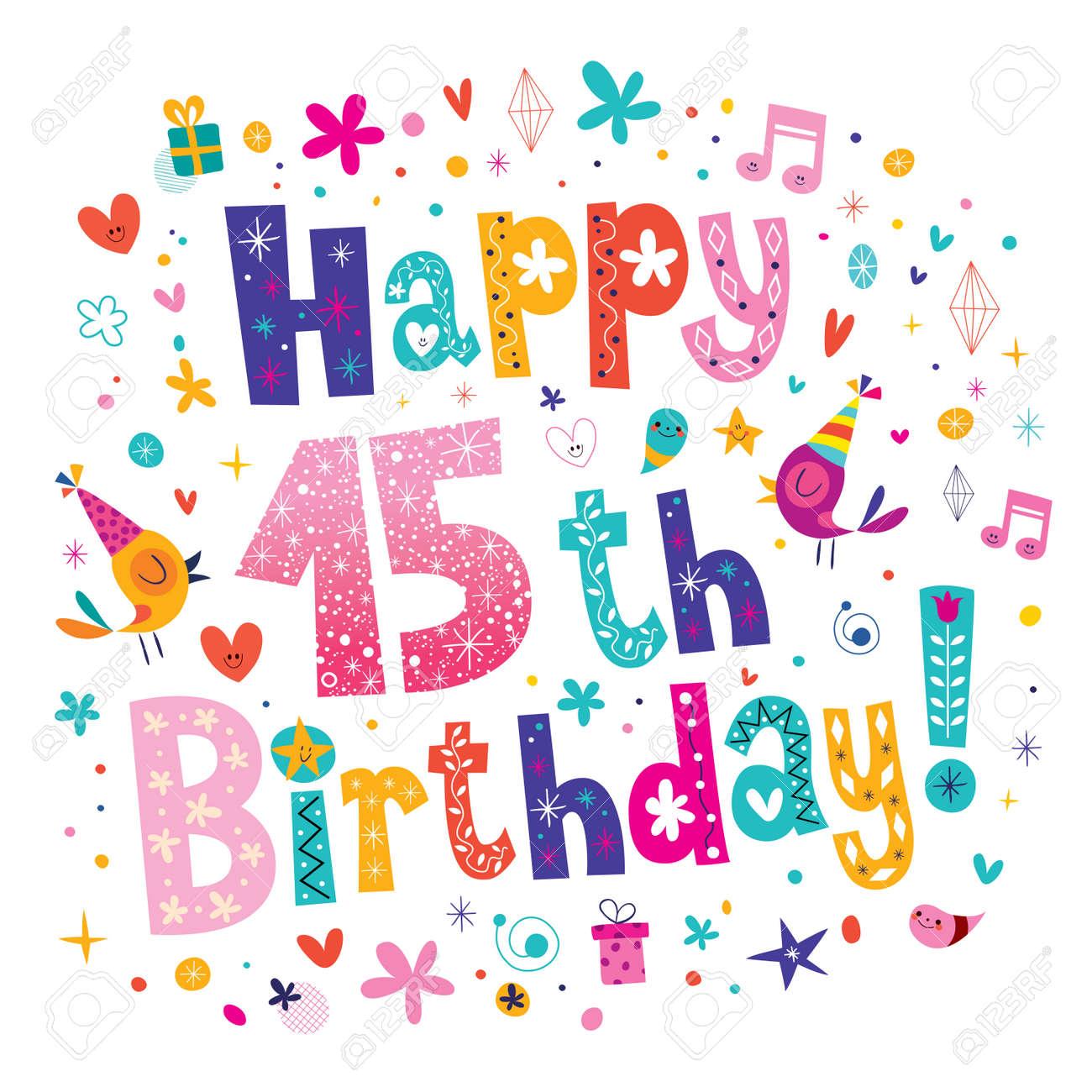 Vettoriale Auguri Di Buon Compleanno 15 Image 62743361
