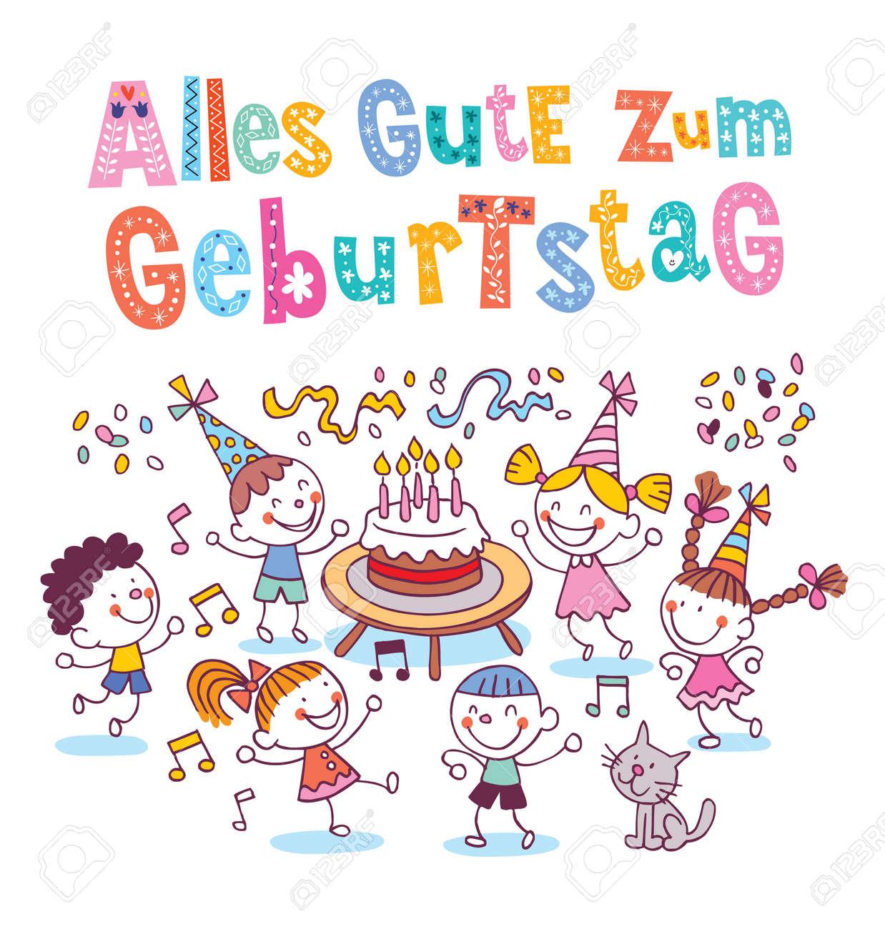 Alles Gute Zum Geburtstag Deutsch German Happy Birthday Kids