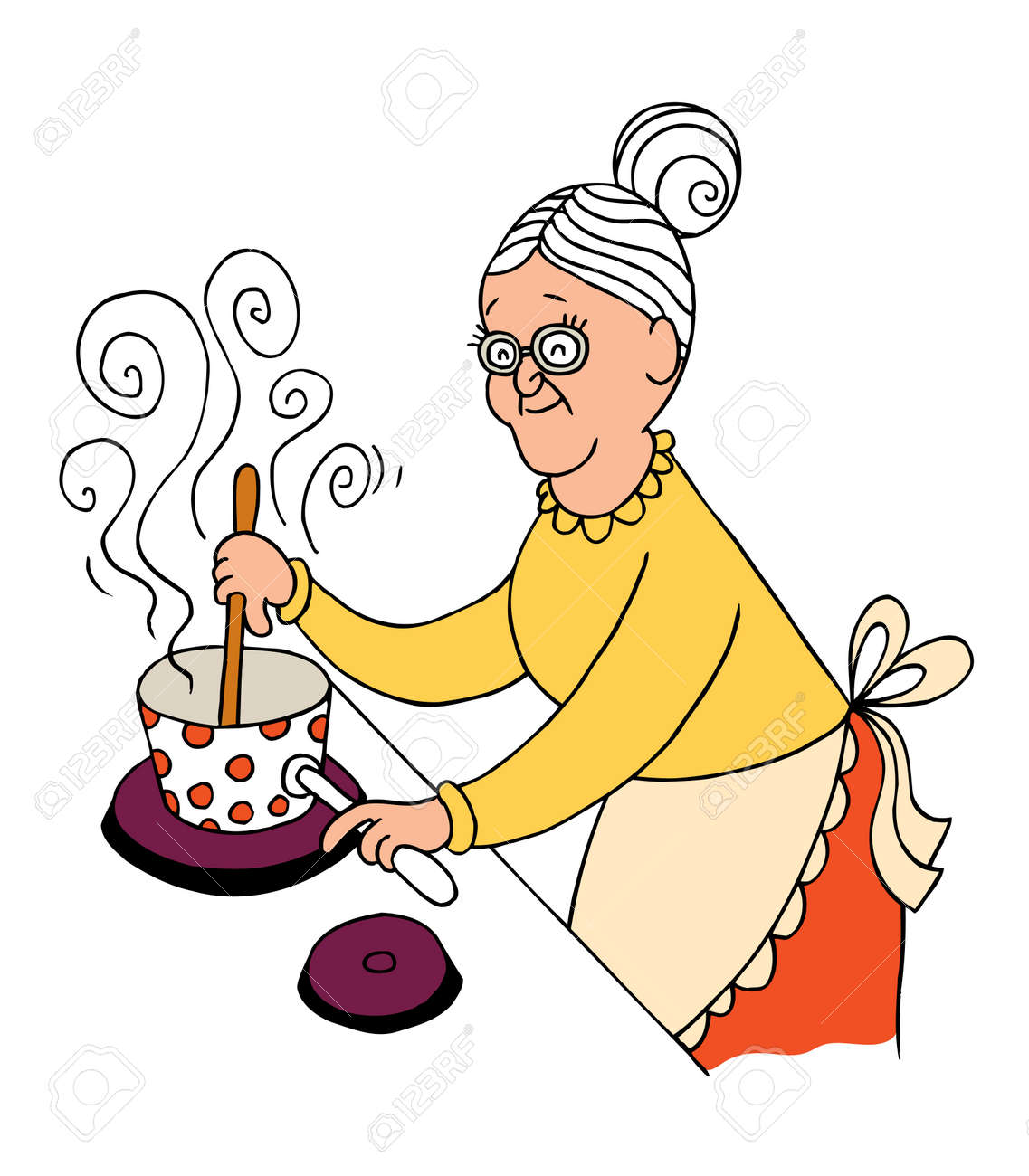 Grandma Cooking Royalty Free Cliparts, Vectors, And Stock ...