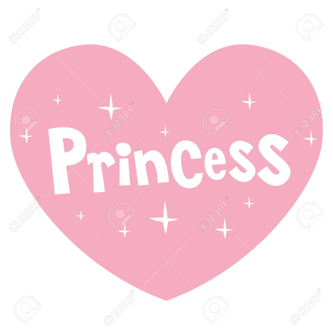 princess pink heart shaped lettering design - 80121371