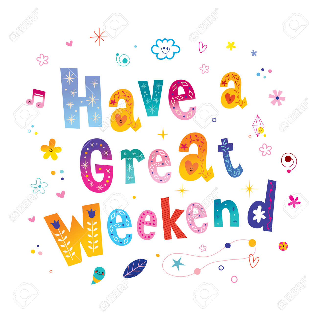 Have A Great Weekend Royalty Free Cliparts, Vectors, And Stock ...