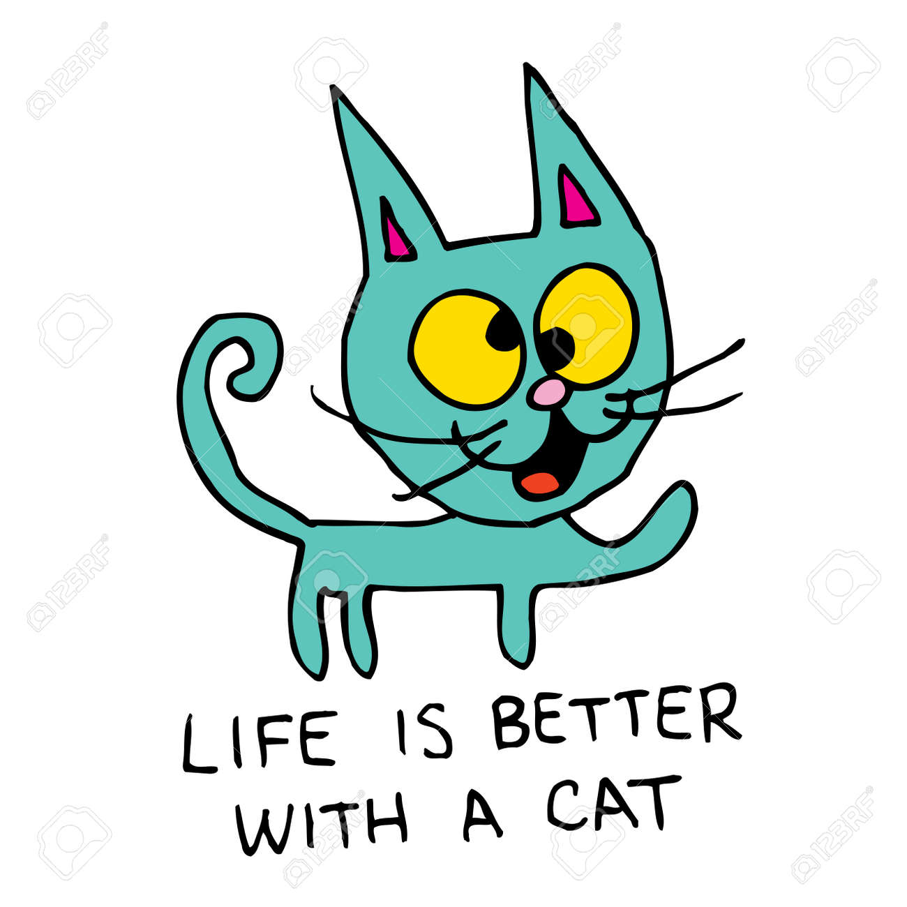 Life is better with a cat - 120787241