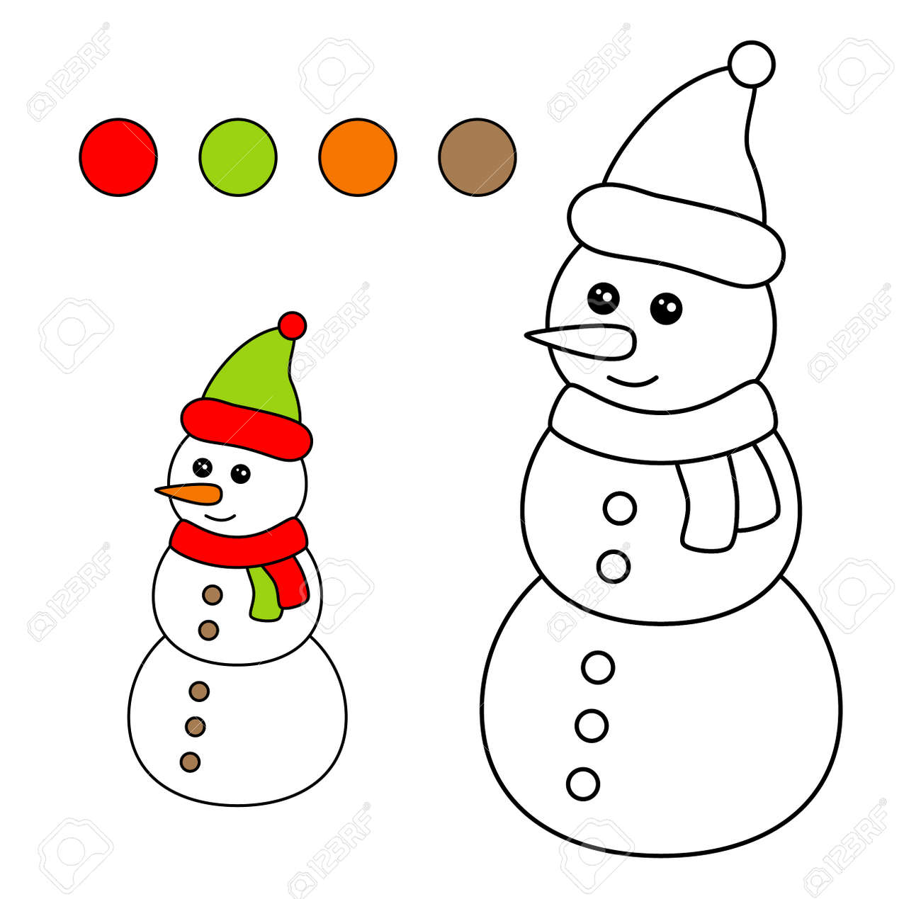 Christmas Pictures For Kids.Coloring Book For Children Drawing Kids Activity Christmas