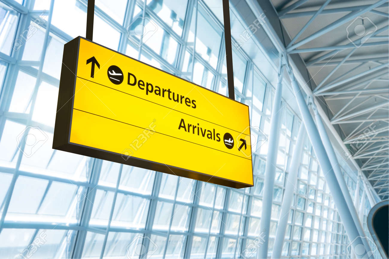 Flight information, arrival and departure board at the airport - 37586814