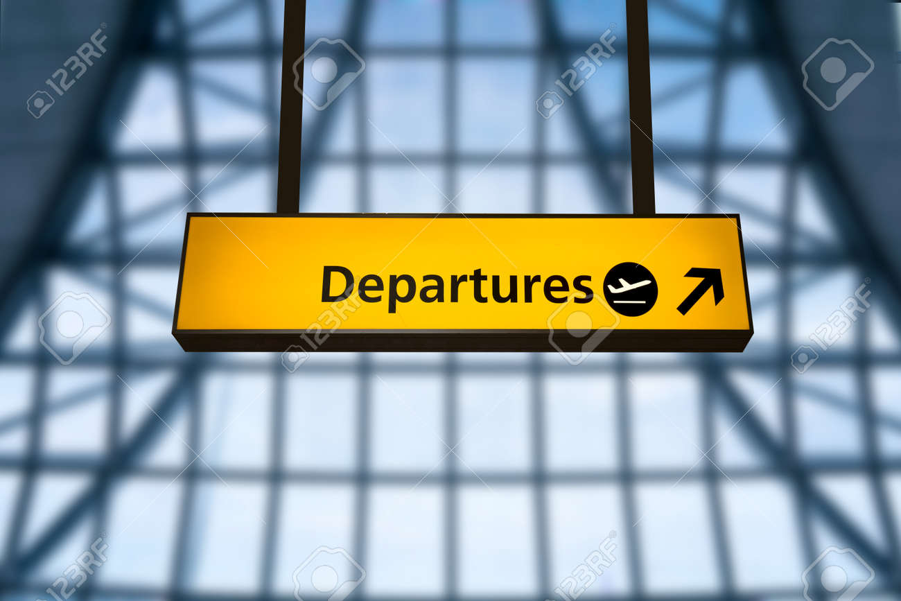 Check in, Airport Departure & Arrival information board sign - 37586881