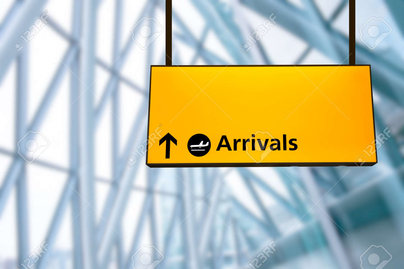 Check in, Airport Departure & Arrival information board sign - 40560847