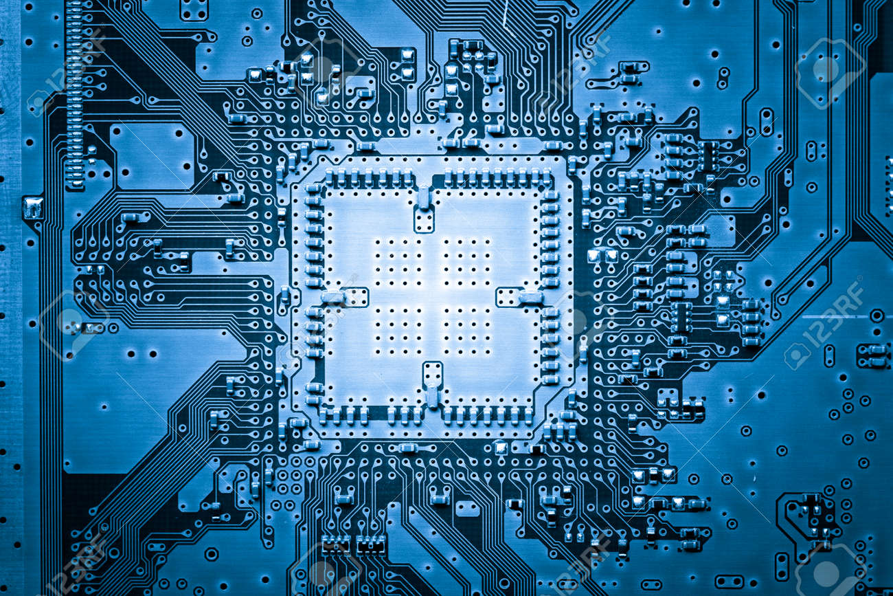 Circuit Design Background Electronic Computer Board Web Stock Photo Picture