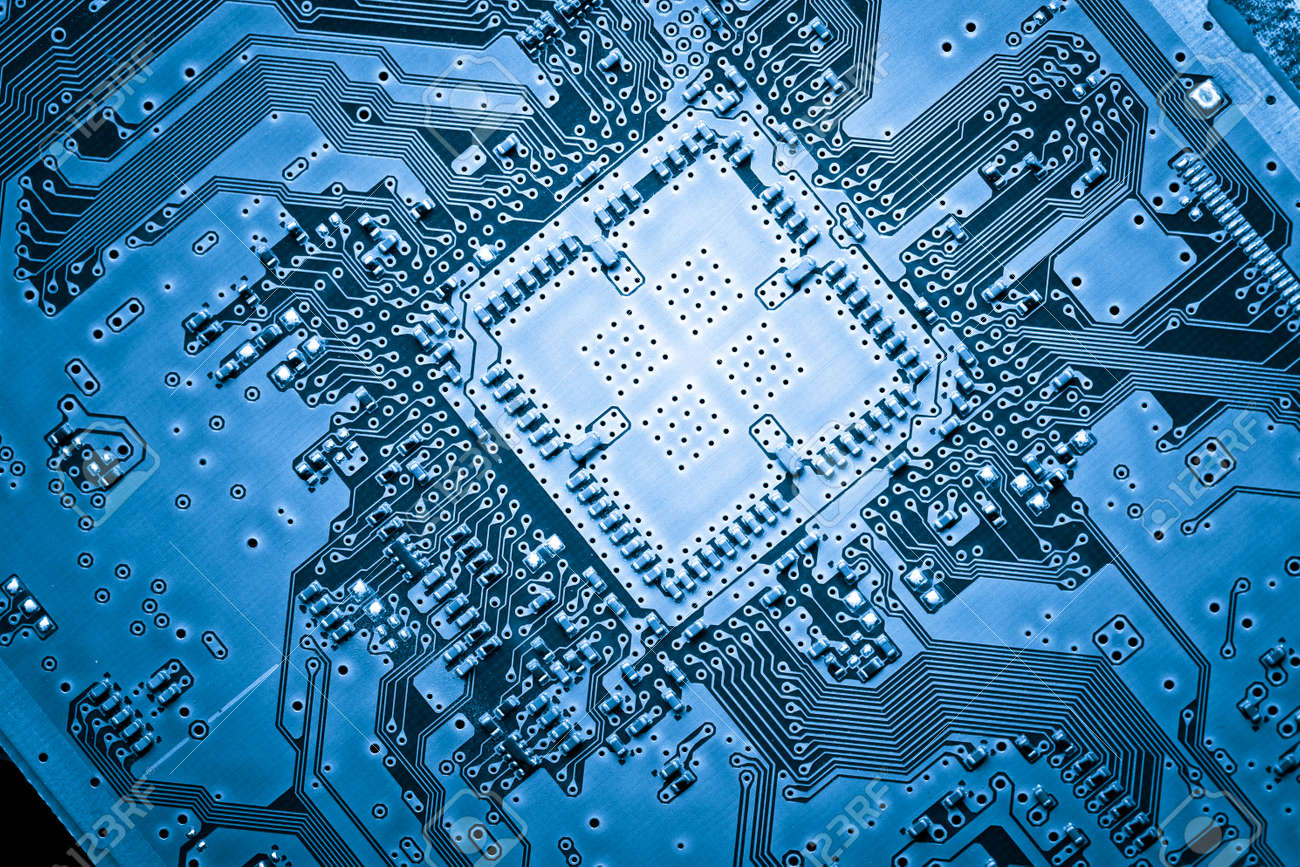 Computer Circuit Board, Web Design Background Stock Photo, Picture ...