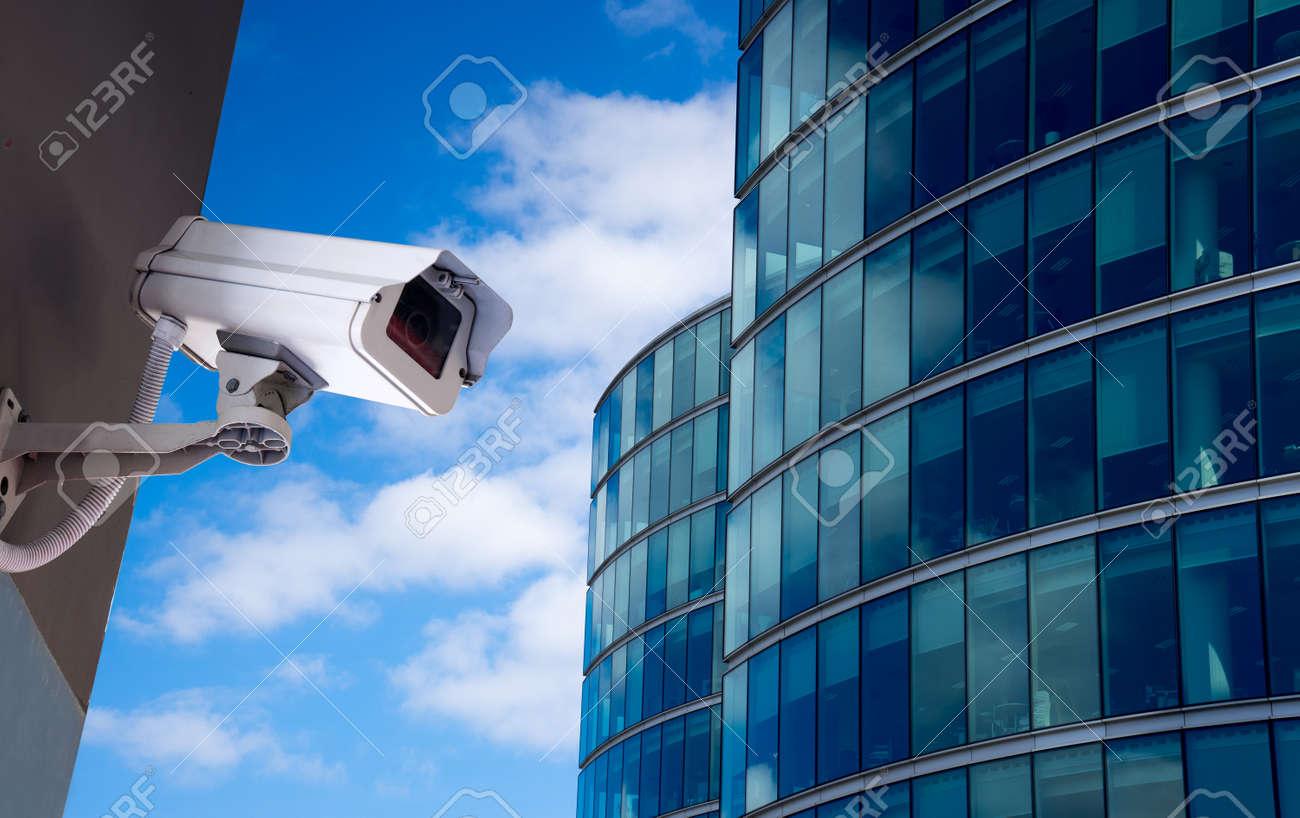 Security CCTV camera in office building - 51791421