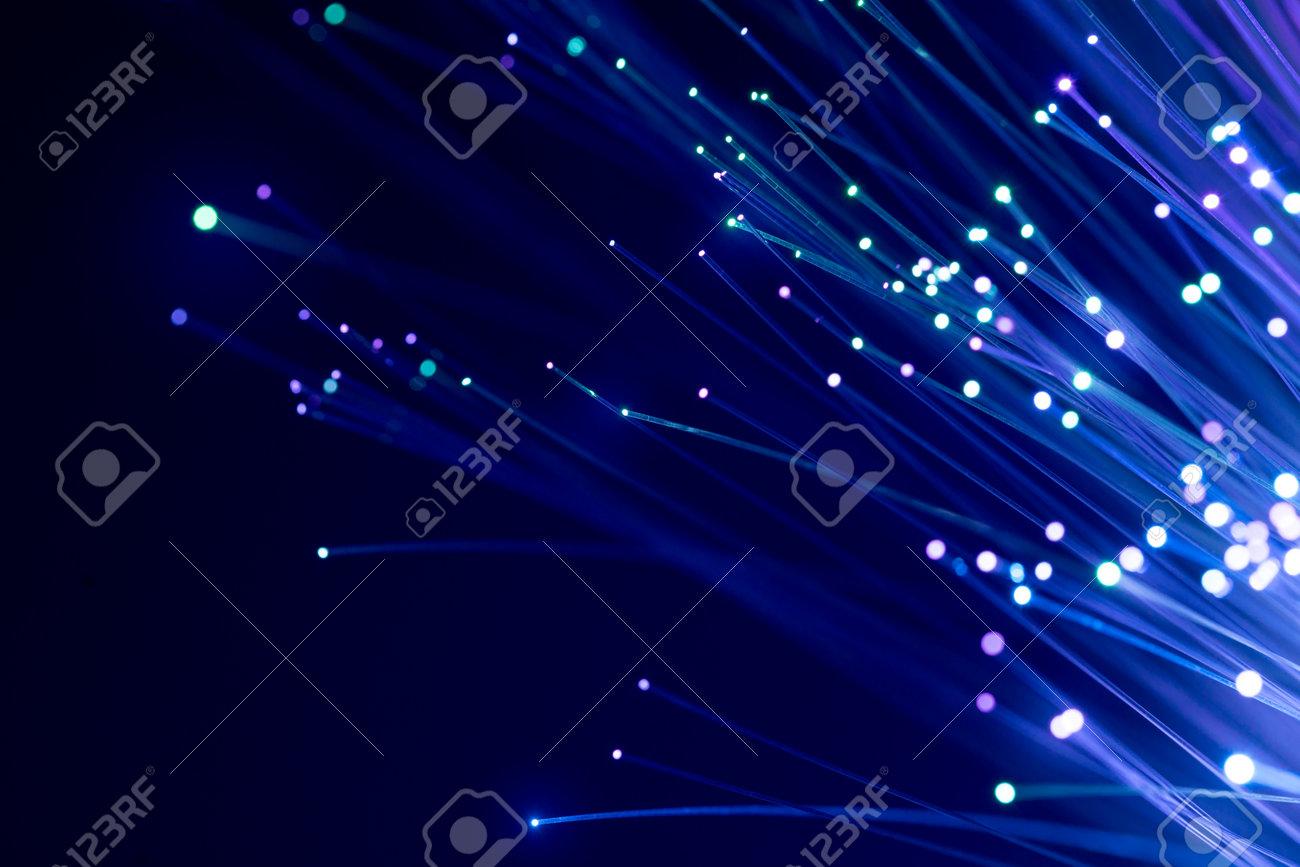 Fiber optics, abstract & blur background - 110602272