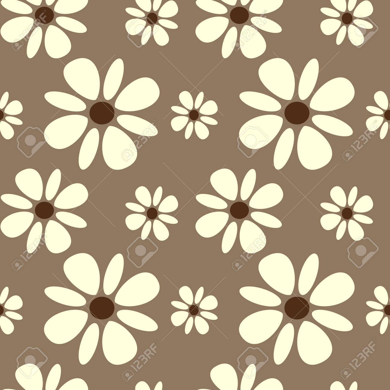 Beautiful White Daisy Flowers On Brown Background Seamless Pattern Royalty Free Cliparts Vectors And Stock Illustration Image 48521061 Shop for artificial daisy flower online at target. beautiful white daisy flowers on brown background seamless pattern
