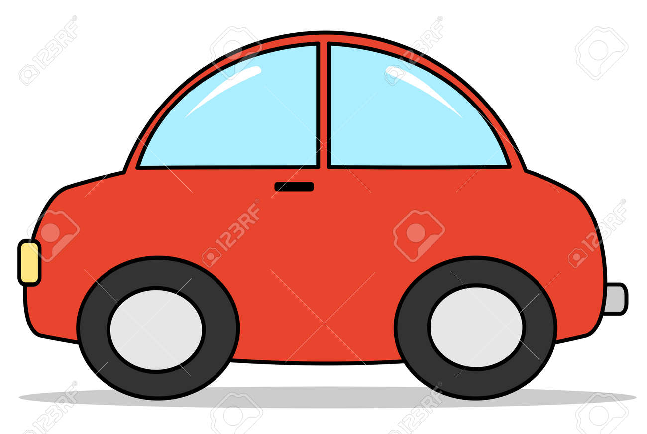 red cartoon car vector illustration royalty free cliparts vectors rh 123rf com car vector clipart car vector free download