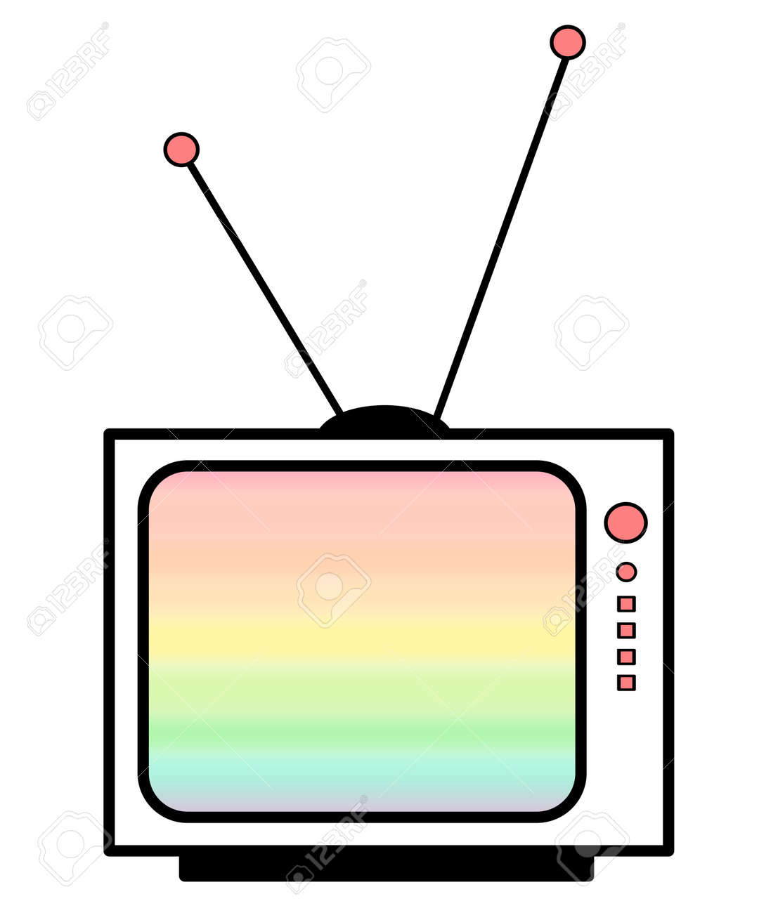 Rainbow Cute Cartoon Tv Illustration Stock Photo Picture And Royalty Free Image Image 62160871